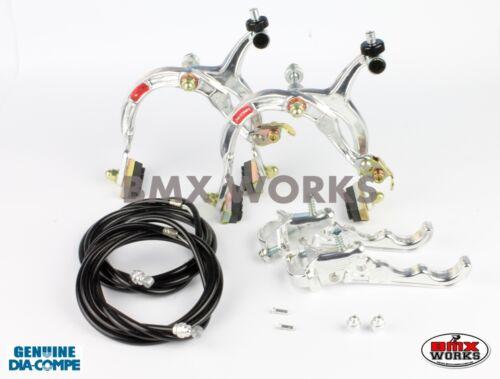Old Vintage School BMX Dia-Compe MX1000 MX120 Silver /& Black Brake Set
