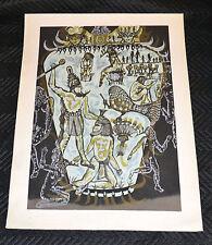 ZAIDA DEL RIO Serigraph.Cuban art.ARTE Cubano.Original serie.Vase of King Narmer