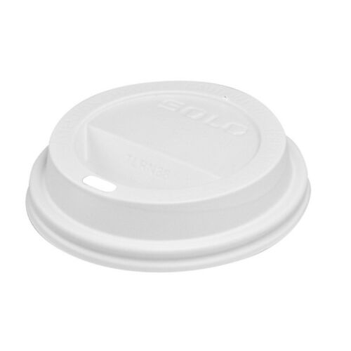 Solo TL38R2-0007 White Traveler Plastic Lid For Solo Paper Cups Case of 1000