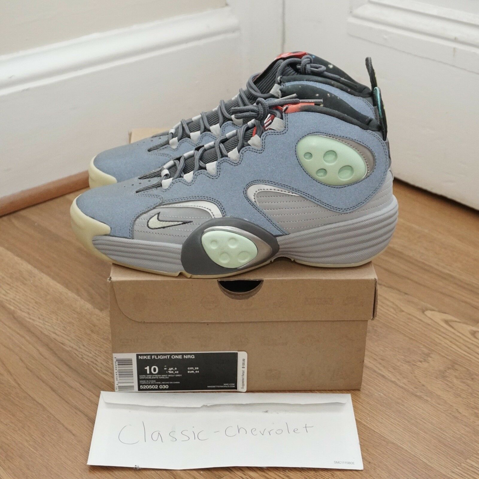 2012 Nike Air Flight ONE 1 NRG Penny DS Galaxy ALL-STAR Glow 520502-030 DS Penny 10 0c96de