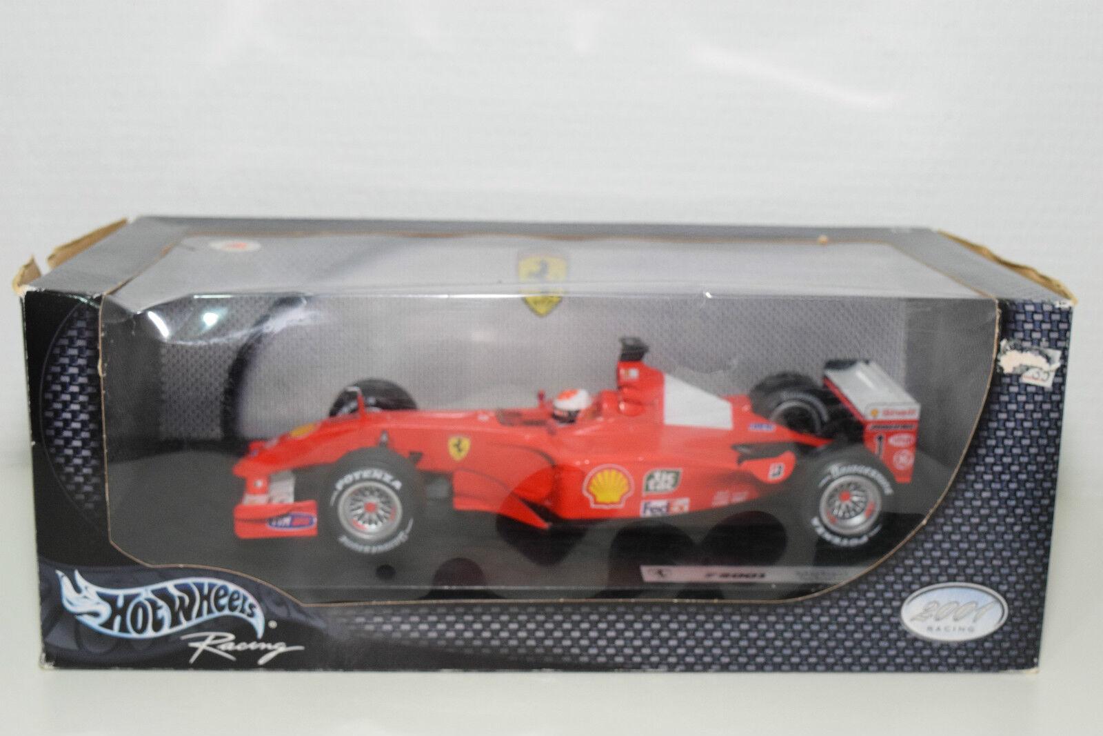 Hotwheels 50202 Ferrari F1 F2001 2001 Schumacher MINT BOXED RARE RARE RARO