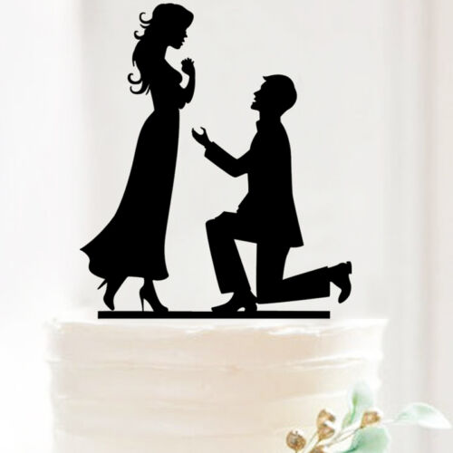 Acrylic Mr /& Mrs Bride Groom Wedding Love Cake Topper Party Favors Decoration