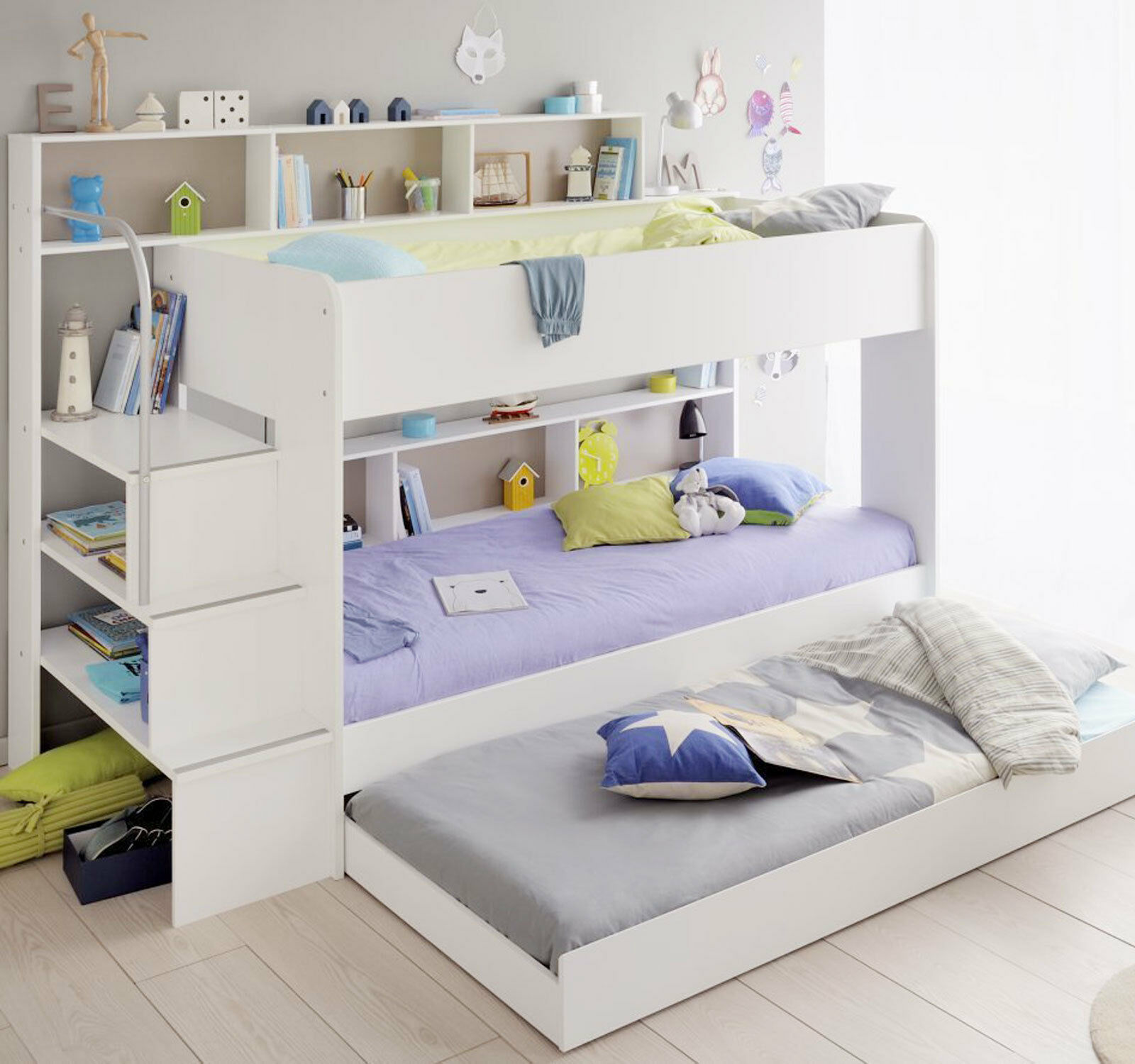 kinderbett etagenbett kombi bett weiss hochbett spielbett stockbett 90x200 bett ebay. Black Bedroom Furniture Sets. Home Design Ideas