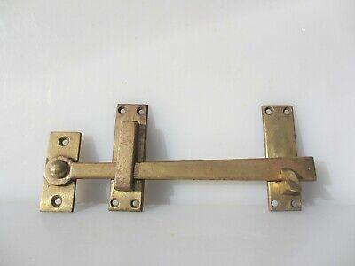 PAIR QUALITY ENGLISH MADE BRASS CUPBOARD CABINET TURN KNOB LATCH DOOR LATCH CB15