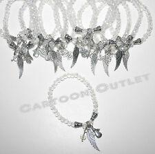 12 X RECUERDOS COMUNION ANGEL WINGS BRACELETS CRYSTAL BAUTIZO QUINCEANERA FAVORS