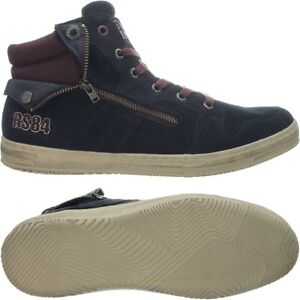 redskins minska mens' hightop sneakers dark blue casual