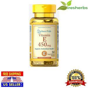 Vitamin E 1000 Iu 450 Mg Dl Alpha Tocopheryl Antioxidant Supplement 50 Softgels Ebay