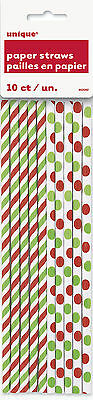 CHRISTMAS RED & GREEN POLKA DOT PARTY TABLEWARE RANGE {Unique}