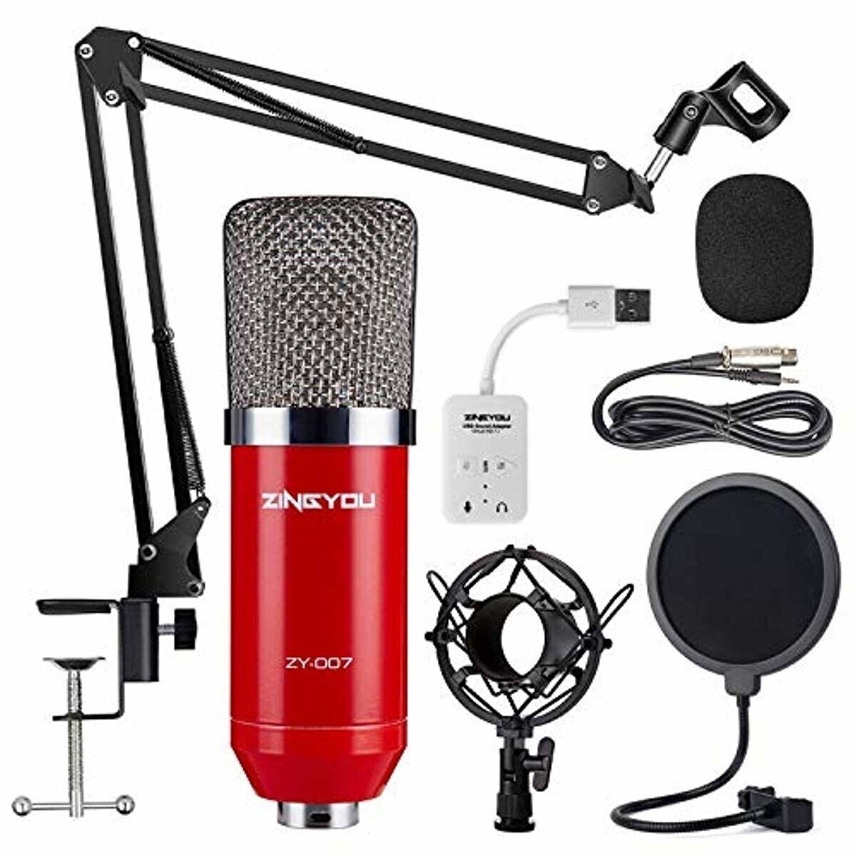 Microfono De Estudio Profesional Para Grabaciones O Programas En Vivo Red