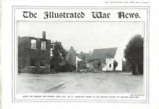 1914 Mouland Belgian Village Vise Burnt-out Houses