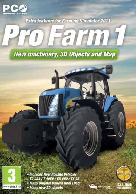 Pro Farm 1 add on for farm simulator 2011 11 (PC CD) NEW SEALED