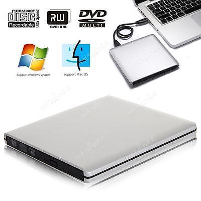 UK Slim External USB 3.0 Drive Player CD+/-RW DVD +/-RW Burner Reader Rewriter
