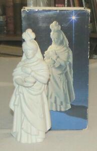 Avon Nativity White Bisque Kaspar 1982 with Box
