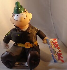 TOY-FACTORY-BEETLE-BAILEY-SARGE-7-034-PLUSH-TOY-PLASTIC-HEAD