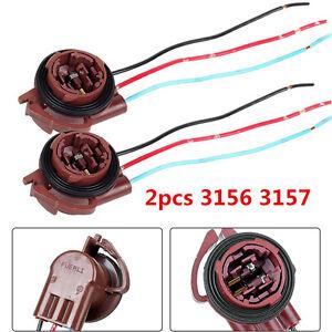 2pcs-3156-3157-LED-Bulb-Turn-Brake-Signal-Lights-Sockets-Harness-Wire-Adapters