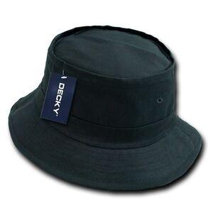 c4856f53a1f Black Fisherman s Fishing Sun Bucket Safari Hiking Boonie Cap Hat ...