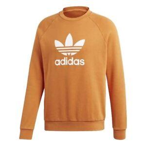 Caricamento dell immagine in corso Adidas-FELPA-UOMO-TREFOIL-CREW -ORANGE-DH5832-Arancione- 65a674d8fc71