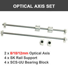 81012mm Linear Shaft Rod Optical Axis Rail Support Bearing Block 10pcs Set