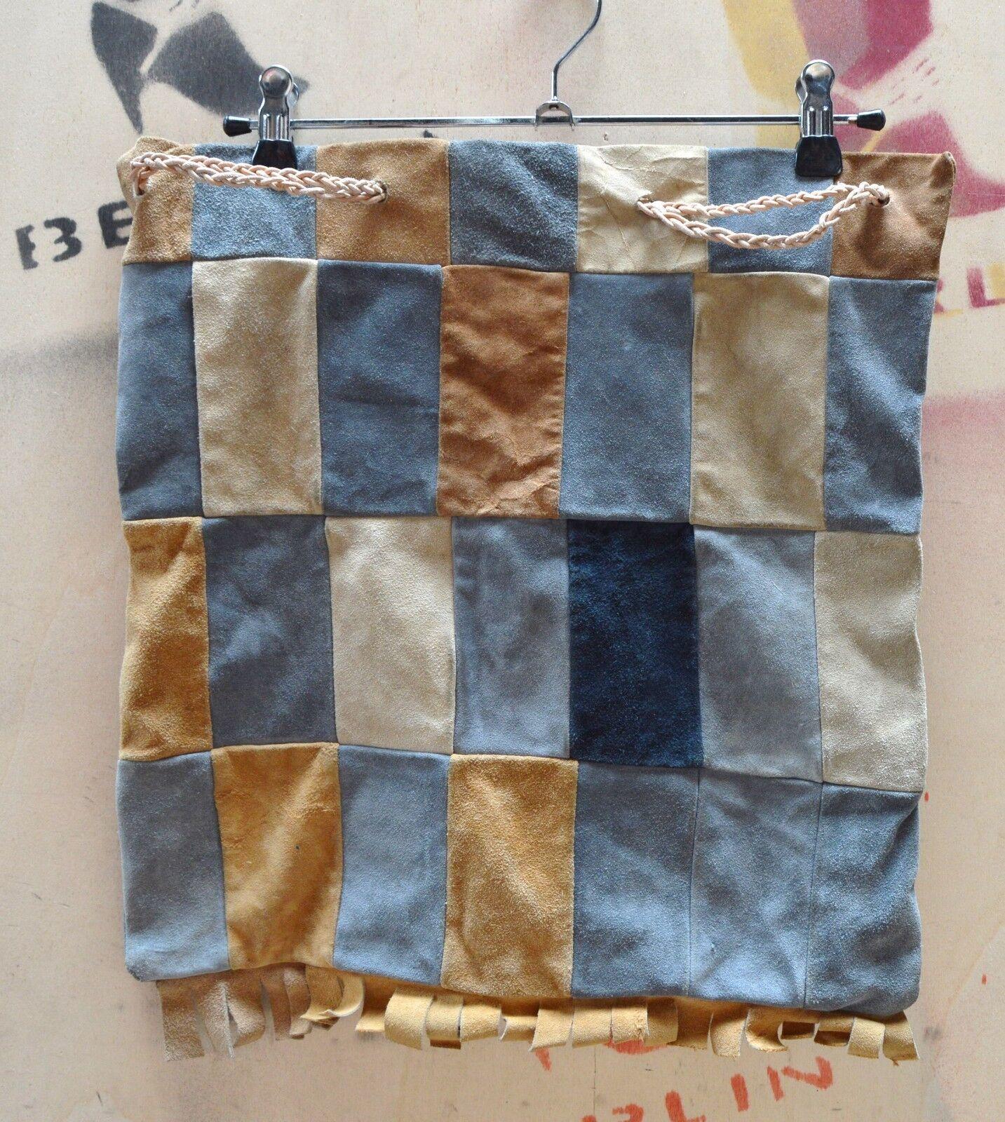 GüNstig Einkaufen Leder Grabbel Bag Tasche True Vintage Karos Handmade Cuir Sac Peatchwork Shopper Taschen & Leder