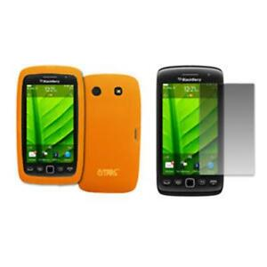 for-BlackBerry-Torch-9860-Case-Gel-Orange-Screen-Guard