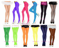 Plus Size Opaque Colored Tights Pantyhose Closed Crotch Fits To 225 Lbs Queen