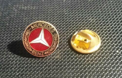 MERCEDES benz pin logo rouge émaillé rétro années 80er-Dimensions 14 mm