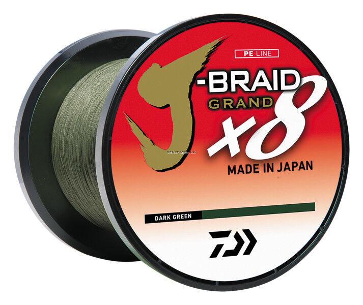 NEW Daiwa J-BRAID GRAND 8X 6lb 3,000YDS BULK SPOOL DARK GREEN JB8U6-3000DG