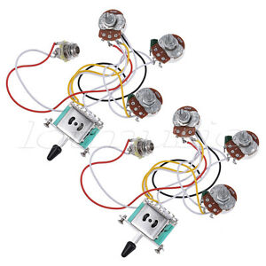 guitar wiring harness kit 5 way toggle switch 250k 2t1v pots for guitar wiring harness kit 5 way toggle switch