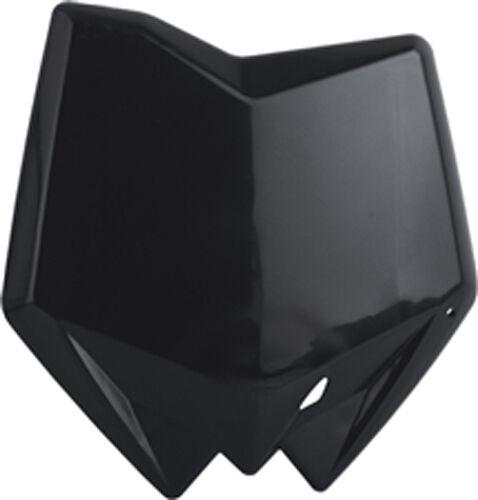 BLACK POLISPORT FRONT NUMBER PLATE Fits Husqvarna CR 125,WR 125,WR 250,SMR 45