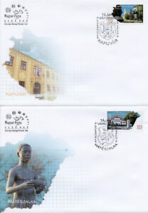 Hungary-2019-FDC-Regions-Towns-Kapuvar-Mateszalka-2v-on-2-Covers-Tourism-Stamps