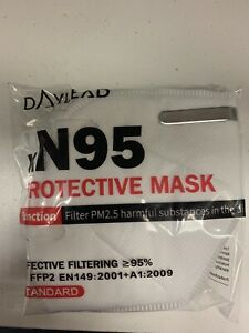 Pack Of 5 Protective Face masks. New. Unisex. Face masks