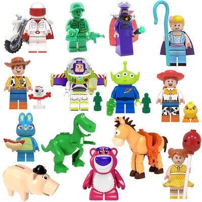 Toy Story Cartoon Woody Jessie Buzz Lightyear Building Blocks Mini Figure DIY