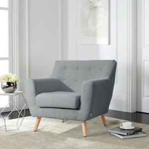 Magnificent Details About Upholstered Contemporary Modern Armchair In Grey Cream Fabric Tub Bucket Sofa Creativecarmelina Interior Chair Design Creativecarmelinacom