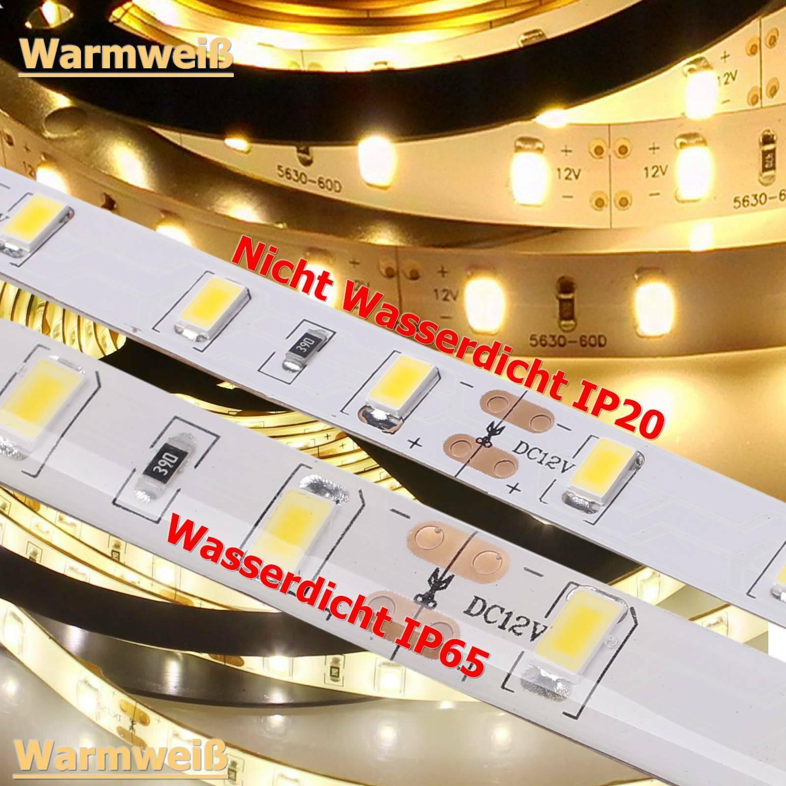 12V LED Streifen Stripe SMD 2835 Warmweiss//Kaltweiss Warm+Kaltweiβ Band Dimmbar
