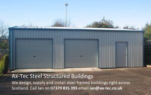 Steel Framed Car Double Garage Workshop Shed Building Kit   eBay