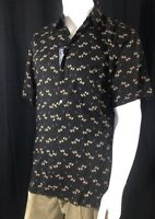 Mens Knightsbridge Short Sleeve Button Front Luxe Rayon Shirt Size M