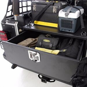smittybilt rear locking security storage vault 2007 2016 jeep wrangler jk 2763 ebay. Black Bedroom Furniture Sets. Home Design Ideas