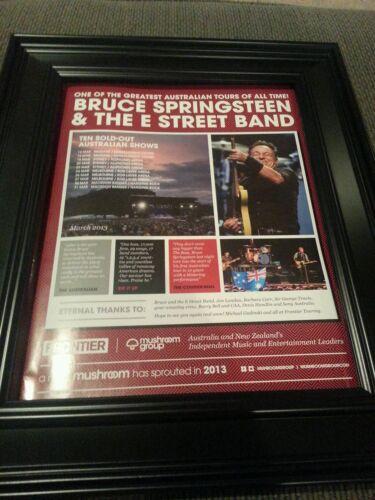 Bruce Springsteen and The E-Street Band Australian Tour Promo Ad Framed!