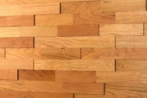Parete legno d rivestimento muro ciliegio wodewa pannelli in
