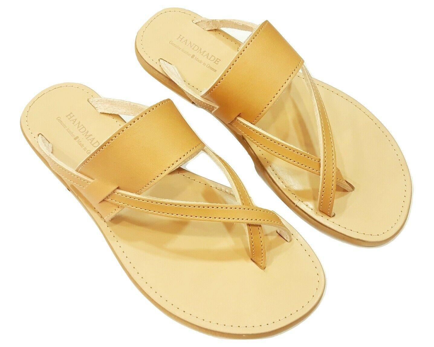 Ancient Greek Style Roman Genuine Leather Handmade Sandals shoes Women Flat New