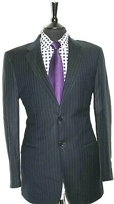 Luxury Mens Austin Reed Tailor Made Navy Pinstripe Suit 40l W34 X L33 Ebay