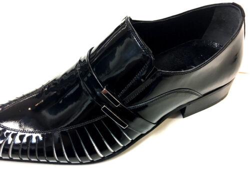 cuoio Uomo unica in Bianco Pantofola Fancy 42 Nero Suola Chelsy Pantofola Leather vqZStCzwx