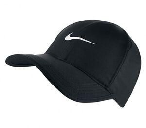 3bee2eabc3e6a New Mens Nike Court DriFit Featherlight Running Tennis Cap Hat Black ...