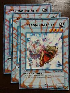 3x (SHATTER GLASS) Tyranno Infinity SD09-EN009 - 1st - Altered Art - Misprint