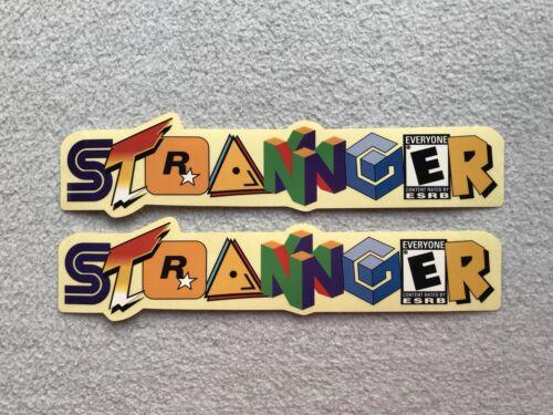 "Nouveau 2 x STRANGER Logo BMX Cadre Stickers 9.5/"" AUTOCOLLANT DECALS DECAL Primo OSS"