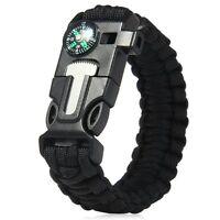 5-in-1 Outdoor Survival Gear Escape Paracord Bracelet (Multi Colors)