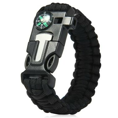 5-in-1 Outdoor Survival Gear Paracord Bracelet