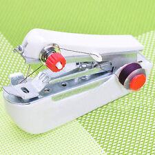 Portable Mini Handy Fabric Clothes Quick Stitch Handheld Sewing Machine x1