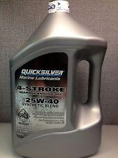Mercury Quicksilver 4 Stroke 25W-40 Synthetic Blend Oil - Gallon Jug