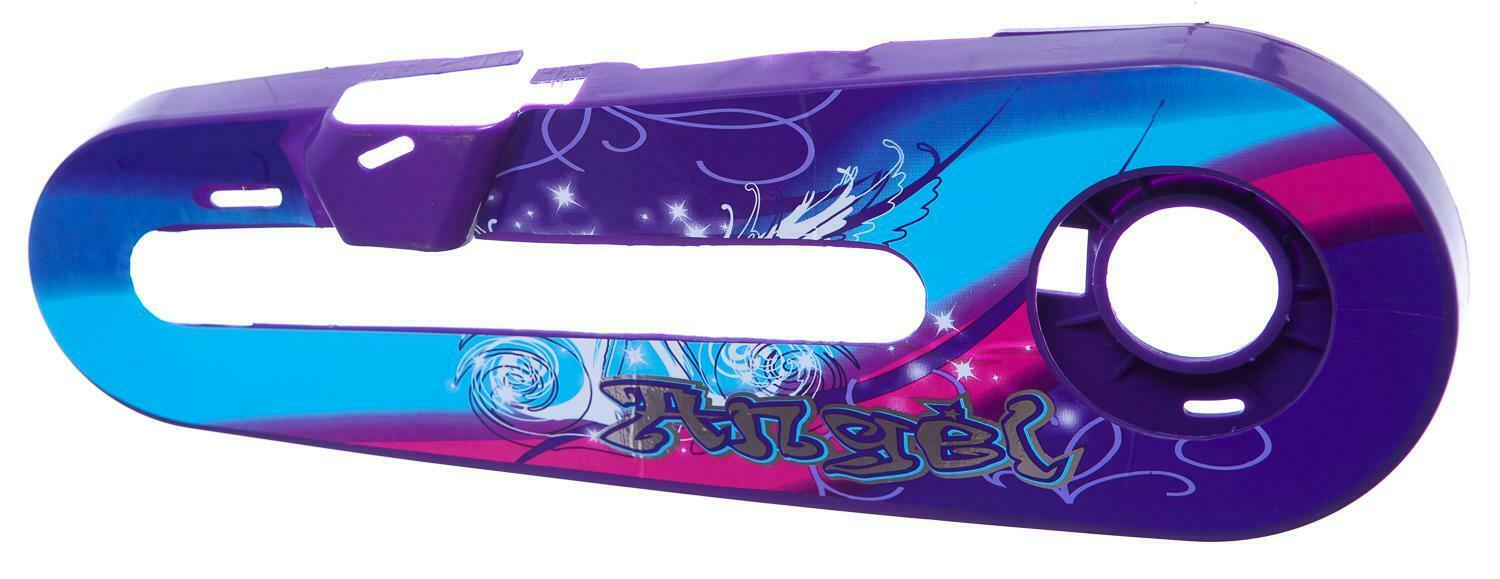 """BLUE and PINK Design NEW VIOLET SWIRLS KIDS Bike CHAIN GUARD for 12/"""" WHEELS"""